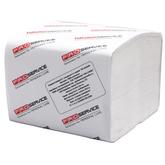 Бумага туалетная PRO service в листах целлюлозная 2-х слойная гладкая 300 шт. (40шт/ящ)