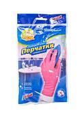 Перчатки Фрекен БОК резиновые розовые универсальные прочные L (144шт/ящ)