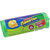 Пакет для мусора Фрекен БОК полиэтилен 50*60 зеленый 35 л / 30 шт. (70 шт. / ящ.)
