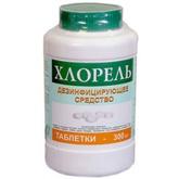 Средство дезинфицирующее Хлорель таблетки 300 шт. банка (800 г)