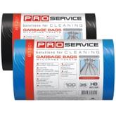 Пакет для мусора PRO service полиэтилен 50*55 синий HD (ХД) 35 л / 100 шт. (20 шт. / ящ.)