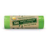Пакет для мусора Фрекен БОК полиэтилен с затяжкой БИО ХД зеленый 35 л / 15 шт. (35 шт. / ящ.)