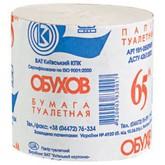 Бумага туалетная серая без гильзы ТМ Обухов (65 м) (48 шт/ящ) (1 шт)